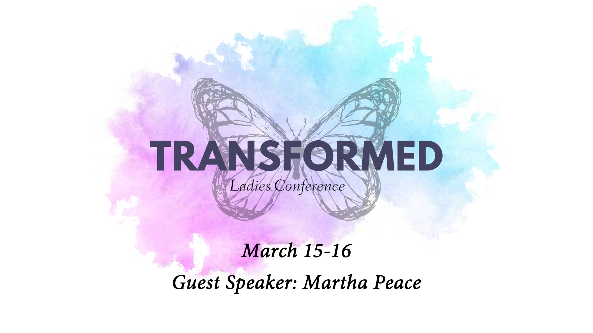 Session 3: Transformed Women's Conference